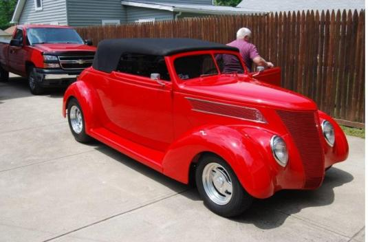 SOLD - 1937 Ford Club Cabriolet