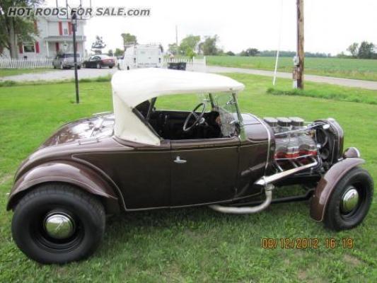 SOLD - 1930 Model A Roadster Vintage Hot Rod